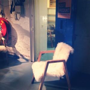 Schapenvacht stoel