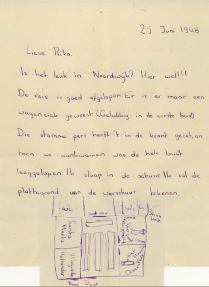 Brief aan Rita, van Trix en Irene